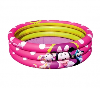 91060 Piscina Inflable 102x25 Cm Minnie Tres Anillos De Color Rosa Bestway