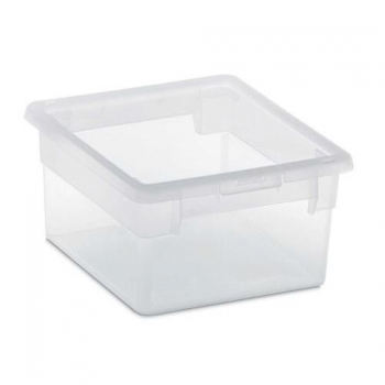 Caja Ordenacion Light Box S/2 2.5l. Transparente