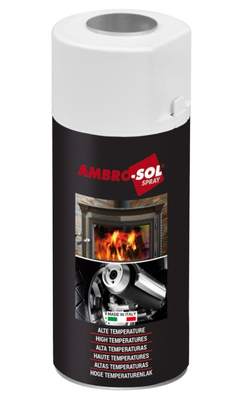 Pintura Spray Anticalorica 400 Ml - Ambro-sol - Negro Mate