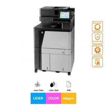 Impresora Láser Multifuncion Reacondicionado Hp Color Laserjet Enterprise Flow Mfp M880z, 46ppm, A4, Color, Escáner, Copiadora, Fax ,  Grado A