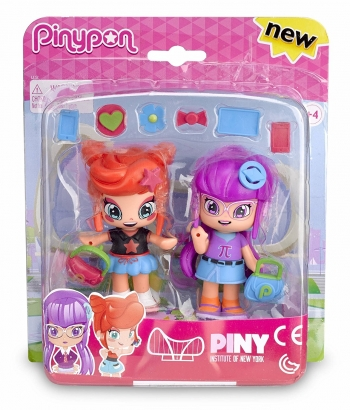 Pinypon 700012915b. Pack Companeras De Clase: Rita And Lilith.