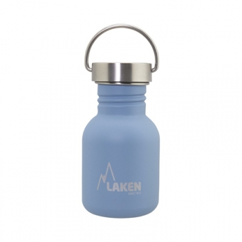Laken Basic Steel Botella Reutilizable 350 Ml Acero Inoxidable Tapón De Acero Inoxidable