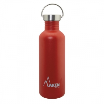 Laken Basic Steel Botella Reutilizable 1000 Ml Acero Inoxidable Tapón De Acero Inoxidable