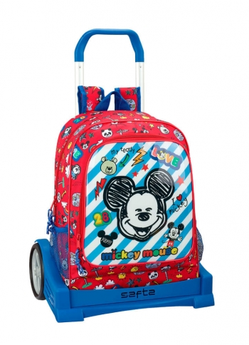 Mochila Mickey Marker Con Carro Evolution