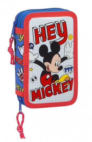 Estuche Mickey Things Doble 28 Piezas