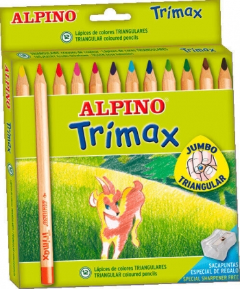 Alpino Estuche Lapices Trimax Colores Surtidos 12 Ud 5 4 Mm Al000113