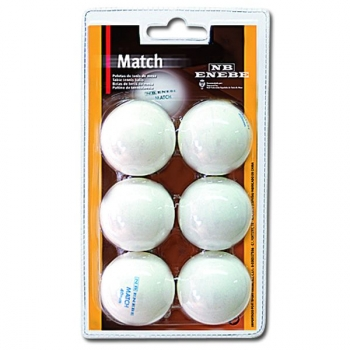 Blister 6 Pel Ping Pong Enebe Match Blanco