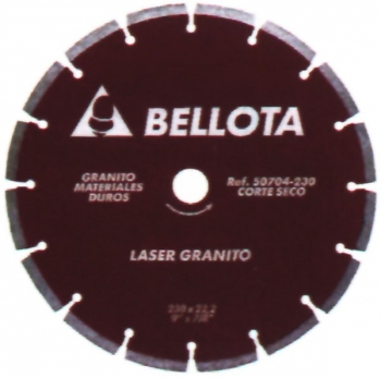 Disco Diamante Granito - Bellota - 50704 - 230 Mm