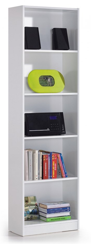 Estanter�a 5 Baldas Librer�a Abierta Color Blanco 180x52x25 Cm