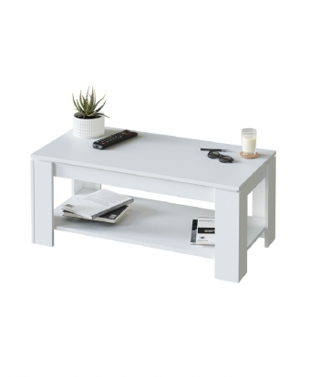 Mesa De Centro Elevable Ambit - Color - Blanco