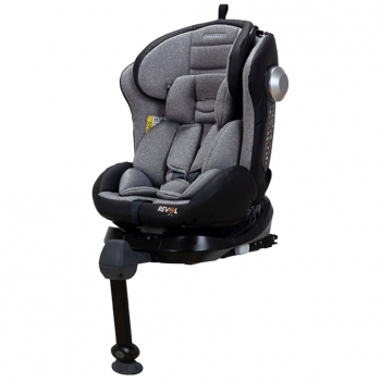 Silla De Coche Para Grupo 0, 1, 2 Y 3 Playxtrem Revol Fix Xl, Color Gris