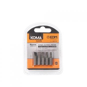 Juego Puntas Planas 1 4 -5 Piezas X 25mm Koma Tools - Neoferr