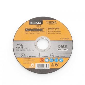 Disco Corte A Inox 115x1.0x22.23mm Koma Tools - Neoferr