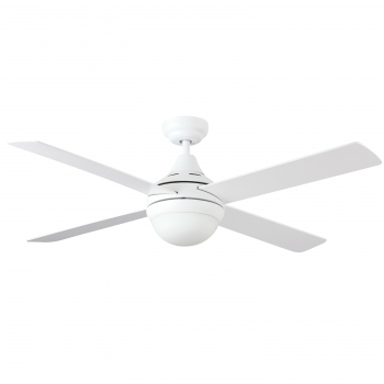 Ventilador Ac 122cm Led 18w Reversible Blanco/pino Regulable Color De Luz