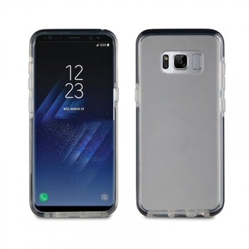 Funda Crystal Soft Bump Transparente Shockproof Negro Samsung Galaxy S8 Plus Muvit Pro