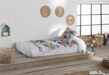 Edredon Ajustable Jungle Color Unico Cama De  135