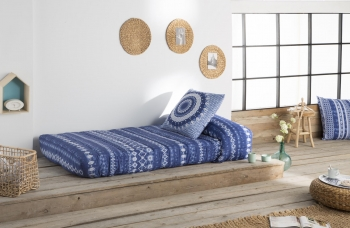 Edredon Ajustable Mandala Color Unico Cama De  135