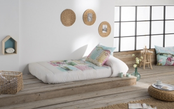 Edredon Ajustable Life Color Unico Cama De  135