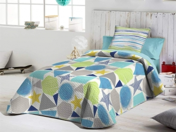 Fundeco - Colcha Reversible Homer Color Unico 180x270 Cm