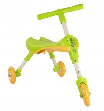 Airel Triciclo Sin Pedales De 1 A 3 Años Medidas: 35x56x41.5cm Color Verde