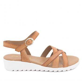 633cf08c72 Eva López Shoes Sandalias Verano Mujer De Piel Con Tiras Cruzadas En Cuero