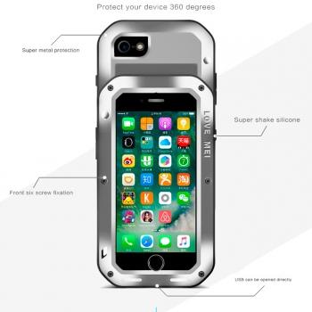 f0b4e898239 Funda Para Iphone 7plus - 8plus Love Mei Defender (resistente Al Agua Y A  Los Golpes
