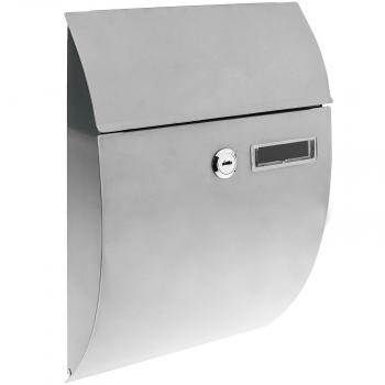 PrimeMatik Buz/ón met/álico para Cartas y Correo Postal de Color Gris 178 x 57 x 259 mm