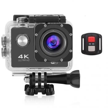 Action Cam Pro Wireless 4k Klack® Camara Con Mando - Negro