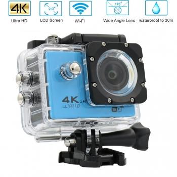 Action Cam Pro Wireless 4k Klack® Camara Con Mando - Azul