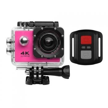 Action Cam Pro Wireless 4k Klack® Con Mando Camara Deportiva Bici, Aquatica Rosa