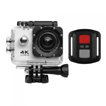 Action Cam Pro Wireless 4k Klack® Con Mando Camara Deportiva Bici, Aquatica Plata