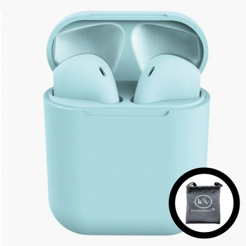 Auriculares Inpods 12 Bluetooth Azul Klack® Compatible Iphone Samsung Huawei, Universal