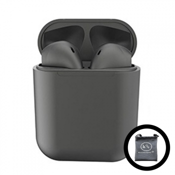 Auriculares Inpods 12 Bluetooth Metalizado Negro Klack® Compatible Iphone Samsung Huawei, Universal