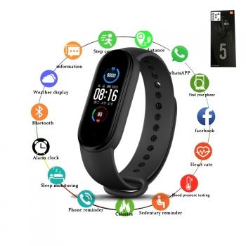Smartwatch Mujer Hombre Reloj Inteligente Rojo Smart Watch Deporte Deportivo M5