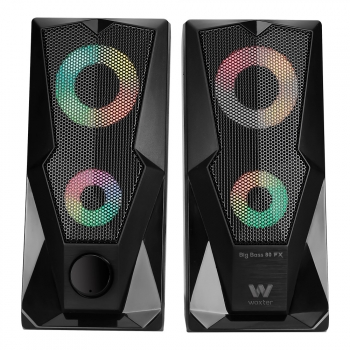 Altavoces Gaming 2.0 Woxter Big Bass 80 Fx, 15w, Leds