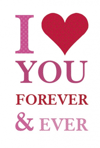 Tarjeta Felicitación I Love You For Ever And Ever