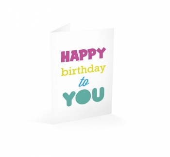 Tarjeta Felicitación Happy Birthday To You