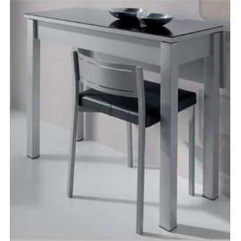 Mesa Cocina Plegable Cristal 2 Colores , Color - Negro