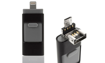 Pendrive Otg 3 En 1, Android/ios/usb Pc Y Smartphone 16gb Negro