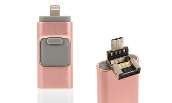 Memoria Para Móviles Iphone (ios) Y Android Iflash Otg  3 En 1  De 32gb  Color Rosa