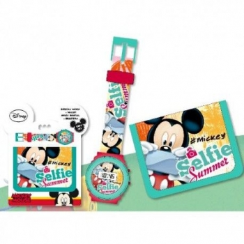 Set Regalo Reloj Digital Y Billetera De Mickey Mouse