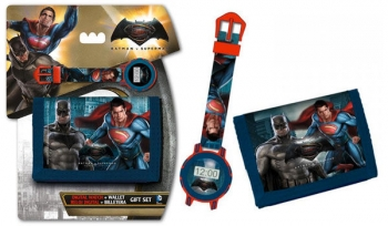 Set Regalo Billetera Y Reloj Digital De Batman Vs Superman
