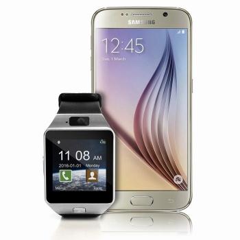 Reloj Inteligente Cámara Para Teléfonos Inteligentes Android Y Ios Plata