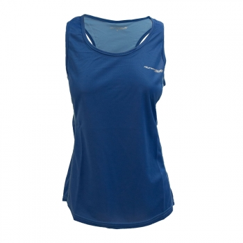 Camiseta Running Impossibly Mujer Royal Celeste
