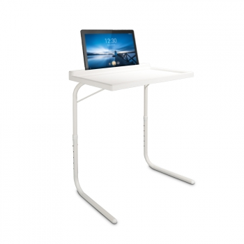 Mesa Auxiliar Plegable Ajustable Regulable En Altura Y Con Soporte Para Tables, Moviles