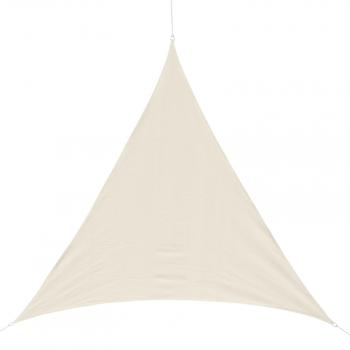 7d56bdec Toldo Vela 5x5x5m Triangulo Color Crema Sombrilla Parasol Terraza Jardin  Camping