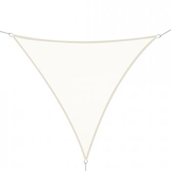 toldo vela 4x4x4m triangulo color crema sombrilla parasol terraza jardin camping - Sombrillas De Terraza
