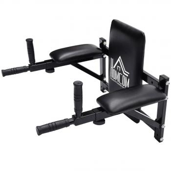 Barra De Musculacion Para Pared Homcom Acero Plástico Pvc 70x56-43x48cm,negro.