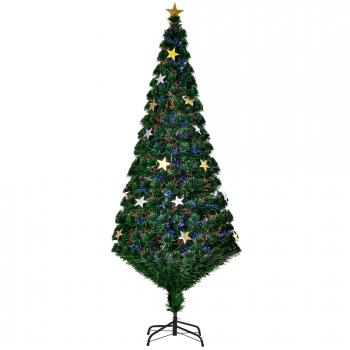 0166fa4e7ff Homcom Árbol De Navidad Verde Φ80x180cm Árbol De Fibra Óptica Con 28 Luces