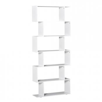 Estanteria Libreria 6 Estantes De Madera Forma De S 80x25x192cm  Almacenamiento de3936be85d4